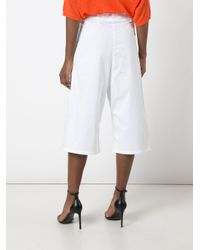 Christian Wijnants - White Cropped Trousers - Lyst
