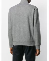 Polo Ralph Lauren Gray Zipped High-neck Jumper for men