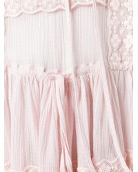 Givenchy - Pink Broderie Anglaise Trim Top - Lyst