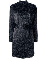 DIESEL - Black Match Print Shirt Dress - Lyst