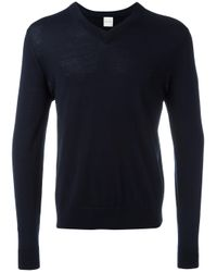 Paul Smith | Blue V-neck Jumper for Men | Lyst