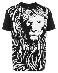 Versus | Black Lion Print T-shirt for Men | Lyst