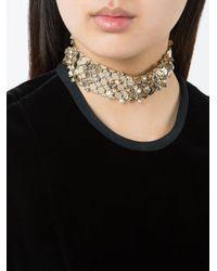 Lanvin - Metallic Embellished Choker Necklace - Lyst