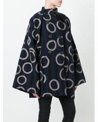 Vivienne Westwood Anglomania Blue Oversized Double-breasted Coat