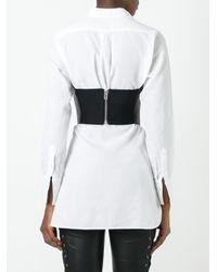Faith Connexion - Black - Strapless Leather Top - Women - Lamb Skin/polyester/acetate - 2 - Lyst