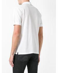 Alexander McQueen | White Logo Patch Polo Shirt for Men | Lyst