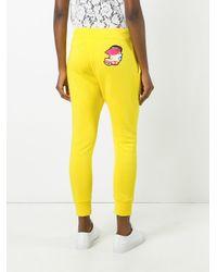 DSquared² - Yellow Drinking Decal Track Pants - Lyst