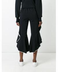 Jonathan Simkhai - Black Ruffled Cropped Trousers - Lyst