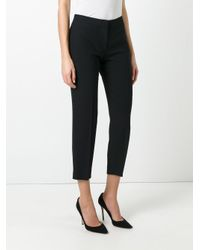 Alexander McQueen - Black Cropped Trousers - Lyst