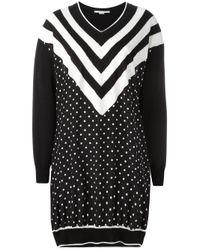 Stella McCartney | Black Dual Pattern Dress | Lyst