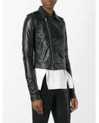 Rick Owens - Black Biker Jacket - Lyst