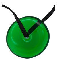 Monies - Green Disc Pendant Necklace - Lyst