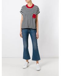 Vanessa Bruno Athé - Blue Striped Knitted T-shirt - Lyst