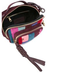 See By Chloé Red Patchwork Patti Camera Crossbody Bag