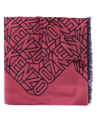 KENZO | Red Flying Scarf | Lyst