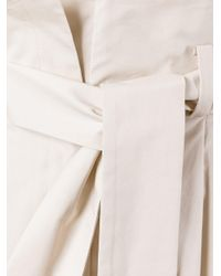 Fendi | Natural Tie Fastening Palazzo Pants | Lyst