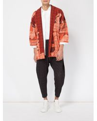 Homme Plissé Issey Miyake | Red Geisha Print Open Jacket for Men | Lyst