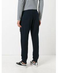 Stone Island Blue Jogger-style Sweatpants for men