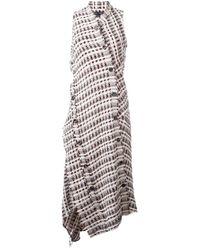 Proenza Schouler | Brown Asymmetric Tweed Dress | Lyst
