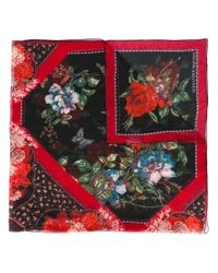 Alexander McQueen | Red Large Floral Tablecloth Print Scarf | Lyst