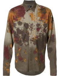PRPS | Green 'pigment Spray' Denim Shirt for Men | Lyst