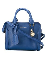Alexander McQueen | Blue Mini Padlock Crossbody Bag | Lyst