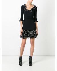 Alexander McQueen | Black Frilled Hem Dress | Lyst