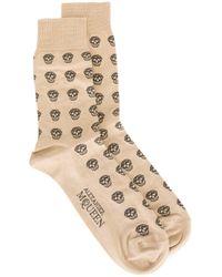 Alexander McQueen - Natural Skull Intarsia Socks for Men - Lyst
