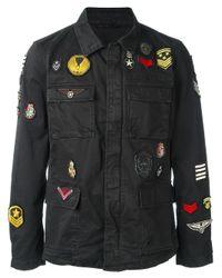 John Varvatos   Black Military Style Jacket for Men   Lyst