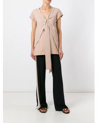 N°21 | Pink Tie Knot T-shirt | Lyst