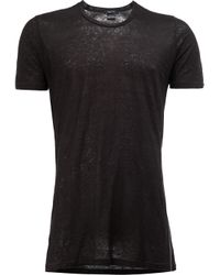 Avant Toi - Black Crew-neck T-shirt for Men - Lyst