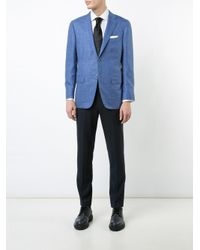 Kiton - Blue Flap Pocket Blazer for Men - Lyst