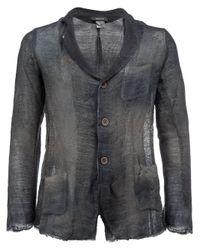 Avant Toi | Blue Distressed Knit Blazer for Men | Lyst
