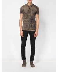 Avant Toi | Green Distressed Knit Polo Shirt for Men | Lyst