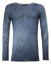 Avant Toi | Blue Distressed Jumper for Men | Lyst