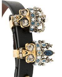 Alexander McQueen - Black Queen And King Bracelet - Lyst