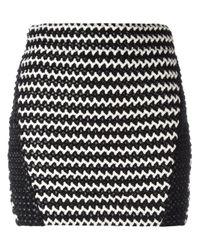Zoe Karssen - Black Braided Mini Skirt - Lyst