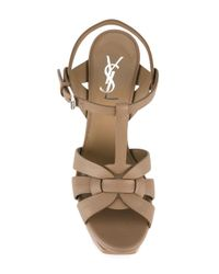 Saint Laurent - Natural Classic Tribute 105 Sandals - Lyst