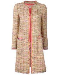 Etro | Multicolor Tweed Mid Coat | Lyst