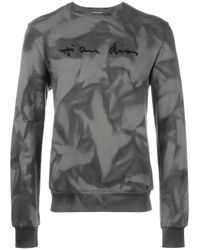 Dior Homme | Gray Embroidered Chest Sweatshirt for Men | Lyst