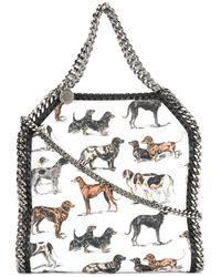 Stella McCartney | White Mini Falabella Dog-print Tote | Lyst
