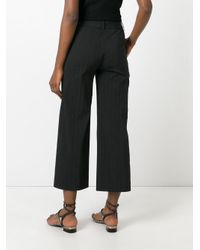 Blumarine - Black Straight Cropped Trousers - Lyst