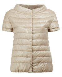 Herno | Natural Cap Sleeve Padded Jacket | Lyst