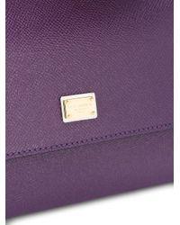Dolce & Gabbana - Purple Small Sicily Tote - Lyst