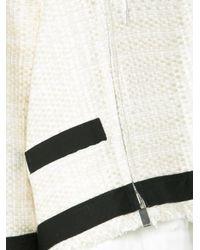 Sacai - White Drawstring Tweed Jacket - Lyst