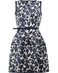 Oscar de la Renta | Black Floral Pattern Dress | Lyst
