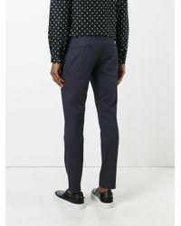 Dolce & Gabbana - Blue Contrast Stitch Trim Chinos for Men - Lyst