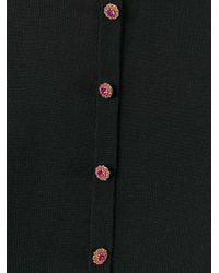 Dolce & Gabbana - Black Decorative Button Cardigan - Lyst