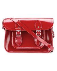 Cambridge Satchel Company | Red Double Buckle Satchel | Lyst