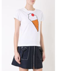 Yazbukey - White Ice-cream Print T-shirt - Lyst